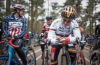 Sanne Cant (BEL) smiling on the start grid<br /> <br /> elite womens race<br /> Krawatencross Lille 2017