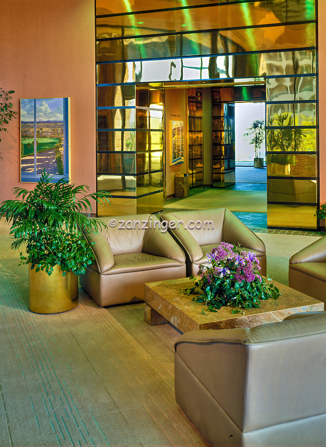 Architectural; Interior; Design; Commercial Building Lobby Seating Area;
