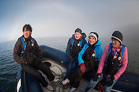 Tripgoers Aboard the Tender En Route to See Steller Sea Lions (Eumetopias jubatus) on the Bell Island Chain, Gulf Islands British Columbia, Canada