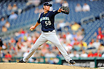 21 June 2011: Seattle Mariners pitcher Doug Fister in action against the Washington Nationals at Nationals Park in Washington, District of Columbia. The Nationals rallied from a 5-1 deficit, scoring 5 runs in the bottom of the 9th, to defeat the Mariners 6-5 in inter-league play. Mandatory Credit: Ed Wolfstein Photo