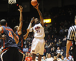 Ole Miss' Murphy Holloway (31) vs. Auburn's Brendon Knox (30) in Oxford, Miss. on Wednesday, February 24, 2010. Ole Miss won 85-75.