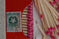 Still life. Fiammiferi del Monopolio di Stato. Matches the State monopoly.....