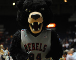 "Ole Miss' Rebel the Bear mascot during the first half at the C.M. ""Tad"" Smith Coliseum in Oxford, Miss. on Monday, November 14, 2011.."