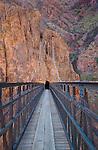 The Black Bridge crossing the Colorado River in Grand Canyon