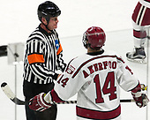 Chris Perrault, Alexander Kerfoot (Harvard - 14) - The Harvard University Crimson defeated the Providence College Friars 3-0 in their NCAA East regional semi-final on Friday, March 24, 2017, at Dunkin' Donuts Center in Providence, Rhode Island.