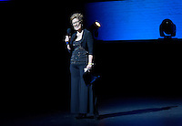 New York City, NY. October 20, 2014. Lisa Kron, the host of The 2014 Bessies Awards addreses audience during the awards ceremony. Photo by Marco Aurelio/VIEWpress