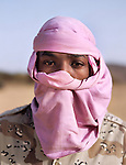 Ahmed Baj, 19 years old, joined NMJ in December 2007. Native of a village named Agalal, he used to rear camels before to join the rebellion. Northern Niger. March 2008.