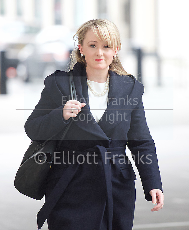 Andrew Marr Show arrivals <br /> BBC, Broadcasting House, London, Great Britain <br /> 12th March 2017 <br /> <br /> <br /> <br /> Rebecca Long-Bailey MP for Salford and Eccles<br /> <br /> <br /> <br /> Photograph by Elliott Franks <br /> Image licensed to Elliott Franks Photography Services