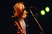 Nirvana Performs at NY Coloseum in New York City..Kurt Cobain of Nirvana Performs at the New York Coliseum in New York City November 14, 1993