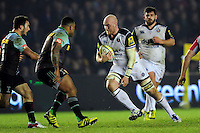 Matt Garvey of Bath Rugby in possession. Aviva Premiership match, between Harlequins and Bath Rugby on March 11, 2016 at the Twickenham Stoop in London, England. Photo by: Patrick Khachfe / Onside Images