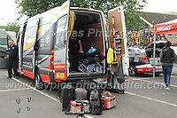 The Raleigh team maintenance van full of spare parts during the Abergavenny Festival of Cycling &quot;Grand Prix of Wales&quot; race on Sunday 17th 2016<br /> <br /> <br /> Jeff Thomas Photography -  www.jaypics.photoshelter.com - <br /> e-mail swansea1001@hotmail.co.uk -<br /> Mob: 07837 386244 -