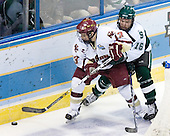 Tyler Howells (Michigan State - Eden Prairie, MN) defends against Pat Gannon (Boston College - Arlington, MA). The Michigan State Spartans defeated the Boston College Eagles 3-1 (EN) to win the national championship in the final game of the 2007 Frozen Four at the Scottrade Center in St. Louis, Missouri on Saturday, April 7, 2007.