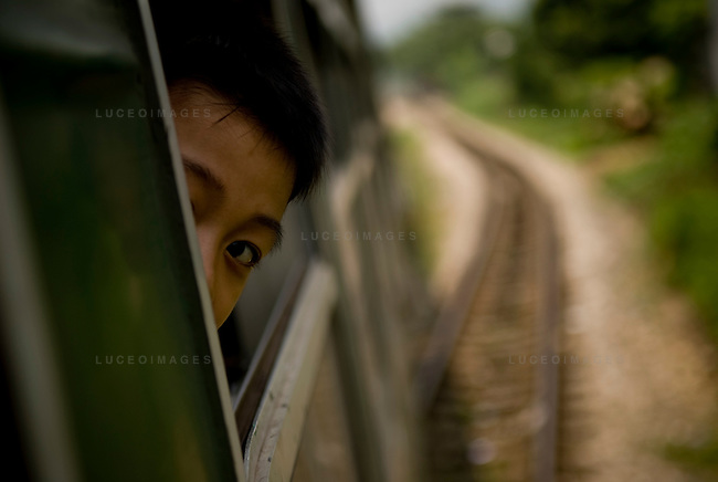 passengers ride the train from Hanoi to Sapa, Vietnam.