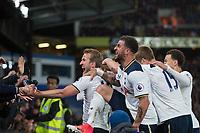 Tottenham Hotspur players celebrate the opening goal      <br /> <br /> <br /> Photographer Craig Mercer/CameraSport<br /> <br /> The Premier League - Crystal Palace v Tottenham Hotspur - Wednesday 26th April 2017 - Selhurst Park - London<br /> <br /> World Copyright &copy; 2017 CameraSport. All rights reserved. 43 Linden Ave. Countesthorpe. Leicester. England. LE8 5PG - Tel: +44 (0) 116 277 4147 - admin@camerasport.com - www.camerasport.com