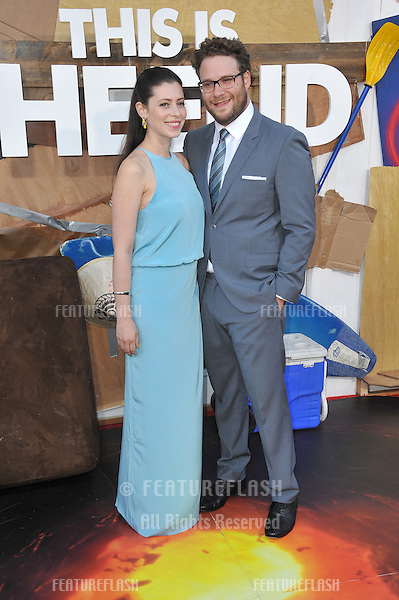 Seth Rogen &amp; Lauren Miller at the world premiere of his movie &quot;This Is The End&quot; at the Regency Village Theatre, Westwood.<br /> June 3, 2013  Los Angeles, CA<br /> Picture: Paul Smith / Featureflash