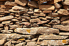 Dry stone wall on the Greek Island of Ios, Greece