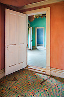 Bannack State Park, Montana:<br /> Abandoned buildings of Bannack ghost town