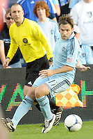 Bobby Convey (11) Sporting KC midfielder in action... Sporting KC defeated FC Dallas 2-1 at LIVESTRONG Sporting Park, Kansas City, Kansas.