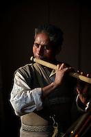 Kathmandu Flute Street Flute player, Nepal