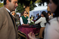 Gem Palace owner Siddharth Kasliwal (center) at the high tea event after the Argyle Pink Diamond Cup, organised as part of the 2013 Oz Fest in the Rajasthan Polo Club grounds in Jaipur, Rajasthan, India on 10th January 2013. Photo by Suzanne Lee