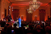 Dianne Reeves performs in the East Room of the White House during the National Governors Association Dinner, Sunday, February 26, 2012. .Mandatory Credit: Pete Souza - White House via CNP
