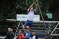 FIERLJEPPEN: IT HEIDENSKIP: 29-06-2016, 1e klasse wedstrijd fierleppen, afgelast wegens regen, Bart Helmholt, ©foto Martin de Jong