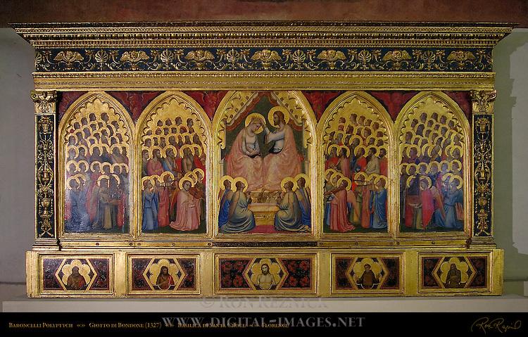 Baroncelli Polyptych Giotto di Bondone 1327 Baroncelli Chapel Santa Croce Florence