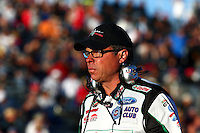 Jul. 26, 2013; Sonoma, CA, USA: NHRA Jimmy Prock , crew chief for funny car driver John Force during qualifying for the Sonoma Nationals at Sonoma Raceway. Mandatory Credit: Mark J. Rebilas-