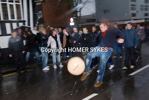 Shrove Tuesday Football. Atherstone Warwickshire UK 2008.