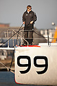 23rd April 2010. Southampton . UK..Pictures of Alex Thomson's new Hugo Boss Open 60. Shown here as the yacht is launched from slipway at Green Marine, Southampton..Mandatory credit: Lloyd Images