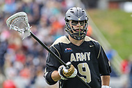 Annapolis, MD - April 15, 2017: Army Black Knights Danny DeSanti (9) in action during game between Army vs Navy at  Navy-Marine Corps Memorial Stadium in Annapolis, MD.   (Photo by Elliott Brown/Media Images International)