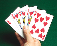 PLAYING CARDS: ROYAL FLUSH<br />