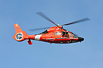 Coast Guard HH-65 Dolphin in flight.