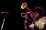 MADRID, SPAIN - NOVEMBER 10: Christian Scott performs in the 'XXVII Festival Jazz Madrid 2010' at Teatro Fernan Gomez on November 10, 2010 in Madrid, Spain. (Photo by Juan Naharro Gimenez)