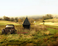 Rural Scenes, Rural Virginia, Old Pick Up,