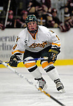 "19 January 2007: University of Vermont forward Dean Strong from Mississauga, ON, in action against Boston College at Gutterson Fieldhouse in Burlington, Vermont. The UVM Catamounts defeated the BC Eagles 3-2 before a record setting 50th consecutive sellout at ""the Gut""...Mandatory Photo Credit: Ed Wolfstein Photo."
