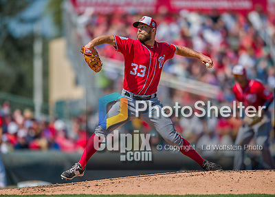 6 March 2016: Washington Nationals pitcher Matt Grace on the mound during a Spring Training pre-season game against the St. Louis Cardinals at Roger Dean Stadium in Jupiter, Florida. The Nationals defeated the Cardinals 5-2 in Grapefruit League play. Mandatory Credit: Ed Wolfstein Photo *** RAW (NEF) Image File Available ***