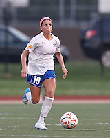 Boston Breakers defender Bianca D'Agostino (19) looks to pass. In a Women's Premier Soccer League Elite (WPSL) match, the Boston Breakers defeated New England Mutiny, 4-2, at Dilboy Stadium on June 20, 2012.