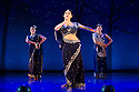 "World premiere of ""Wah! Wah! Girls"" , a British Bollywood musical, at the Peacock Theatre, London. A Sadler's Wells, Theatre Royal Stratford East & Kneehigh production, in association with Hall for Cornwall. Picture shows: Sophiya Haque (centre, as Soraya)."