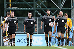 13 September 2013: Match Official. From left: Assistant referee Paul Putnam, Fourth Official Aaron Gallagher, Referee Shane Moody, and Assistant referee Jude Carr. The University of North Carolina Tar Heels hosted the University of Maryland Terrapins at Fetzer Field in Chapel Hill, NC in a 2013 NCAA Division I Men's Soccer match. The game ended in a 2-2 tie after two overtimes.