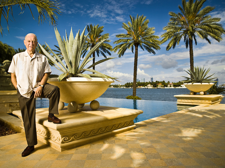 Dr. Phillip Frost photographed at his Miami Beach home for Forbes Magazine.