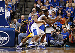 UK forward Alex Poythress goes after the ball after LSU guard Malik Morgan swats it out of his hands during the first half of the men's basketball game vs. LSU at Rupp Arena, in Lexington, Ky., on Saturday, January 26, 2013. Photo by Genevieve Adams  | Staff.