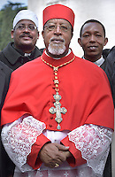 Cardinal Ethiopian Berhaneyesus Demerew Souraphie.Pope Francis,during a consistory for the creation of new Cardinals at St. Peter's Basilica in Vatican.February 14, 2015