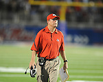 Fresno State Head Coach Pat Hill at Vaught-Hemingway Stadium in Oxford, Miss. on Saturday, September 25, 2010. Ole Miss won 55-38 over Fresno State. Lockett injured his ACL on the play and is out for the season.