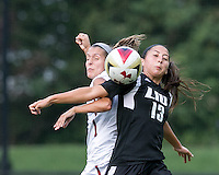 Newton, Massachusetts - September 14, 2016: NCAA Division I. Boston College (white) defeated LIU-Brooklyn (black), 2-0, at Newton Campus Soccer Field.