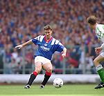 Ian Ferguson in front of the East Enclosure, Ibrox