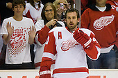 Henrik Zetterberg (Detroit Red Wings, #40) during ice-hockey match between Los Angeles Kings and Detroit Red Wings in NHL league, February 28, 2011 at Staples Center, Los Angeles, USA. (Photo By Matic Klansek Velej / Sportida.com)