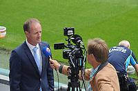 VOETBAL: HEERENVEEN: Abe Lenstra stadion 18-08-2014, Hans Vonk Manager voetbalzaken SC Heerenveen, interview Omrop Fryslân/Gerrit de Boer, ©foto Martin de Jong
