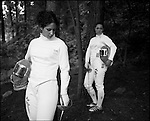 USA Olympic Preview 2004: Sada JACOBSON (left), 21 and sister Emily JACOBSON, 18, Saber, Dunwoody, Georgia, July 2004...2004 © David BURNETT (CONTACT PRESS IMAGES)