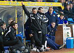 Kilmarnock v St Johnstone....15.01.11  .Derek McInnes and Mixu Paatelainen watch the game.Picture by Graeme Hart..Copyright Perthshire Picture Agency.Tel: 01738 623350  Mobile: 07990 594431